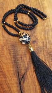 black long tassel necklace images How to make capped tassels tassel necklace tassels and ring jpg