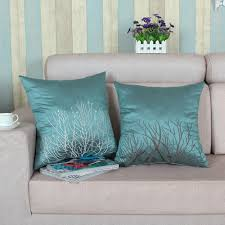 Sofa Pillows Covers by Decor Teal Decorative Pillows With Two Pillows Green Color And