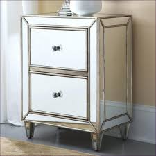 bedroom mirrored 2 drawer side table small nightstand with