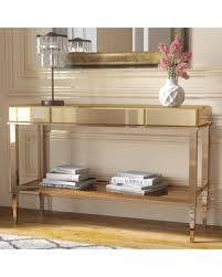 mirrored console table for sale amazing deal on calisto mirrored console table color chagne gold