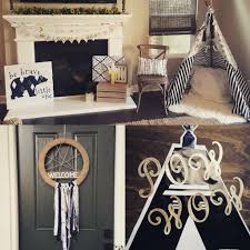 welcome to the tribe baby shower project nursery