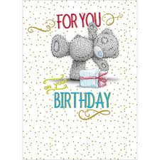 for you on your birthday me to you bear card 1 79 me to you
