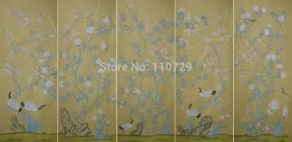 aliexpress com buy decoration hand painted silk wallpaper hand