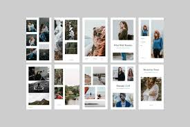 instagram layout vector illustrator instagram templates for posts stories story highlights