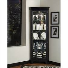 Living Room Cabinets With Glass Doors Stylish Black Corner Storage Cabinet With Display Cabinets Glass