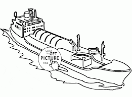 barge coloring page for kids transportation coloring pages