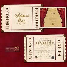 Movie Ticket Wedding Invitations Wedding Invitation Art Deco Wedding Invitations Delicate Make