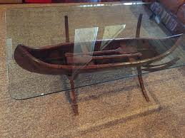 canoe coffee table for sale coffee table coffee tableanoe with glass top boat tablecanoe for