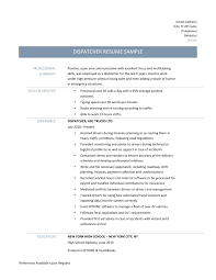 Sample Resumer by Sample Resume Dispatcher Job Resume Ixiplay Free Resume Samples