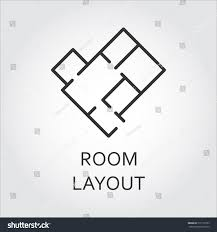 Simple Room Layout Label Room Layout Architectural Schematic Floor Stock Vector