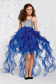 robe mariage enfants robe fille argent et bleu