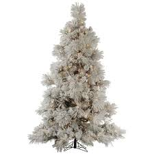4 5 pre lit medium flocked pocono pine artificial tree