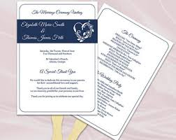 Wedding Program Paddle Fan Template Items Similar To Wedding Program Fan Template Diy Royal Blue