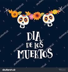 Halloween Card Invitation Dia De Los Muertos Greeting Halloween Stock Vector 708190639