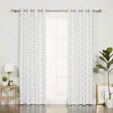 Best Home Fashion Curtains Best Home Fashion Inc Faux Silk Quatrefoil Geometric Blackout