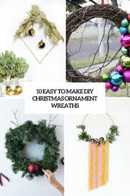 How To Make Christmas Wreath With Ornaments 10 Easy To Make Diy Christmas Ornament Wreaths Shelterness