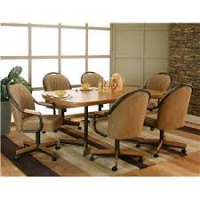 Dining Room Arm Chairs Cramco Inc Shaw Casual Sunset Oak Finished Dining Table With 4