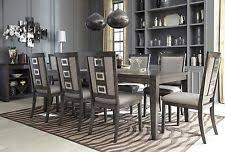 grey dining room chairs 9 piece dining room set ebay