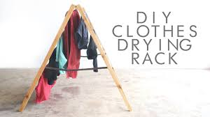 Wooden Clothes Dryer Diy Foldable Clothes Drying Rack Modern Builds Ep 36 Youtube