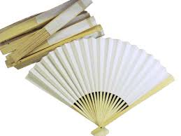 white paper fans paper fan 10 pieces