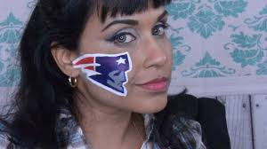 new england patriots face paint tutorial youtube