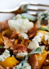 thanksgiving bacon delicata squash with bacon and blue cheese just a little bit of