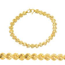 ladies gold chain bracelet images Ladies chain bracelets made of 22 carat yellow gold market jpg