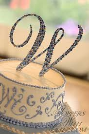 w cake topper monogram cake toppers pictures