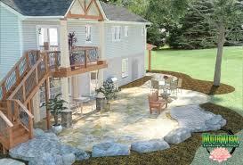 Deck Patio Designs by Walk Out Patio Designs Walkout Basement Home Plans At Dream Home