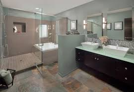 decoration ideas stunning slate tile wall and flooring bathroom