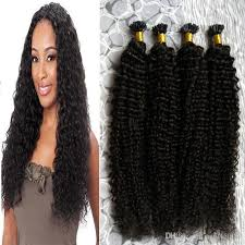 keratin bond extensions color mongolian curly hair afro curly u tip