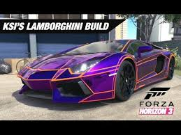 build your lamborghini aventador ksi s lamborghini aventador build forza horizon 3