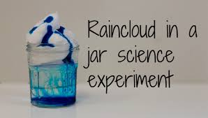 how to make a rain cloud in a jar science experiment youtube