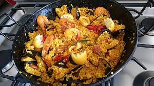 recette de cuisine sans viande recette de paella au fruit de mer et chorizo