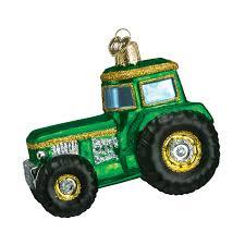 world ornaments tractor glass ornament 46006