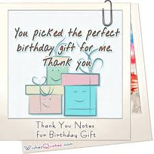 best note thank you card for birthday gift awesome template ideas