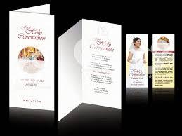 Death Anniversary Invitation Card C U0026 O Ad Ventures First Holy Communion Invitation And Thanks Card