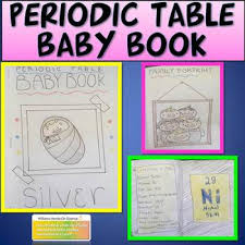 periodic table science book periodic table baby book by williams hands on science tpt