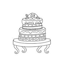 wedding cake royalty free vector image vectorstock