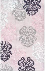 Black White Area Rug Market Tween 12363 Brocade Pink Black White Area Rug