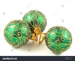 shiny green gold ornaments stock photo 21257161