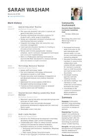 Visual Resume Examples by Special Education Resume Examples Best Resume Collection