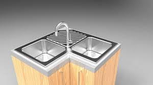 kitchen sink model kitchen sink 3d cad model library grabcad