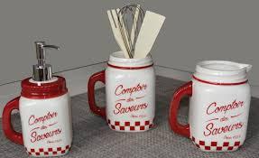 ustensile de cuisine vintage pot à ustensiles rétro jar blanc accessoires cuisine