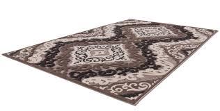 tapis de bureau personnalis tapis à motifs baroque brun marron jericho pas cher