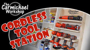 Charging Shelf Station by Cordless Tool Charging Station Youtube