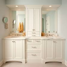 bathroom white cabinets marble floors shaker cabinets large