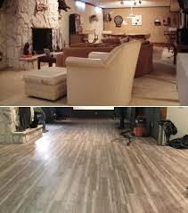 flooring basement basement makeover u2013 edgewater oak luxury vinyl plank makeover
