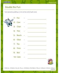 double the fun u2013 free plurals worksheet for kindergarten u2013 jumpstart