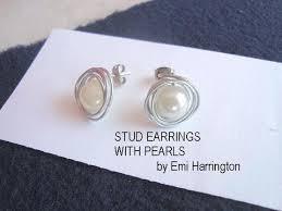 make stud earrings make pearl stud earrings